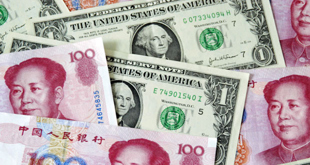 Китайский юань – американский доллар: